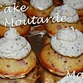 Mini <b>Cup</b> <b>Cakes</b> Jambon & Moutarde à l'ancienne