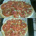 Pizza blanche à la tomate