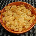 Crumble de tomates à la mozzarella