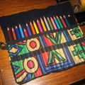 Trousse <b>crayons</b> de <b>couleurs</b>