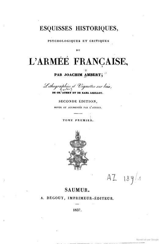 Lancier, Esquises historiques de l'armée française Joachim Ambert