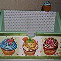 Porte courrier cupcakes