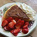 Gateau au fromage blanc et ses fraises au muscat