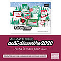 Mini catalogue Stampin'up Automne hiver 2020