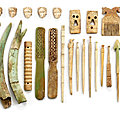 A group of 26 pieces of bone carvings, Central <b>Asia</b>, 1st millennium B.C. and later