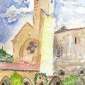Fontfroide , le cloître et le clocher