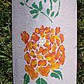 Tuile fleurs oranges (3)