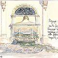 Pézenas : Imposante fontaine place Gambetta