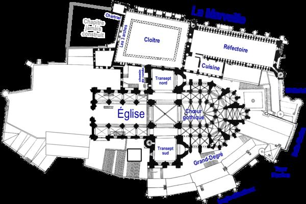 Plan de la Merveille - niveau 3