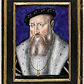 Limosin Léonard (vers 1505-1575), Portrait de <b>Claude</b> de <b>Lorraine</b>, duc de Guise (1496-1550), vers 1550