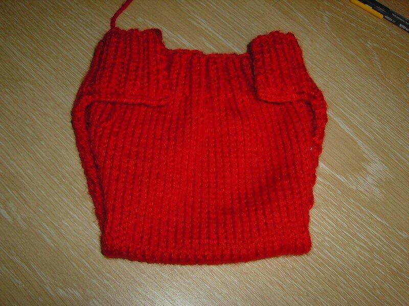 Culotte de protection taille nouveau-né dans un superbe rouge!