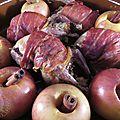 Cailles farcies au jambon de Parme, pommes au four