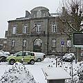 Avranches sous la neige - vendredi 18 janvier 2013