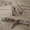 Boucles d'oreilles et joli bracelet