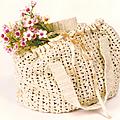 Passion crochet n°3 : sac à main beige