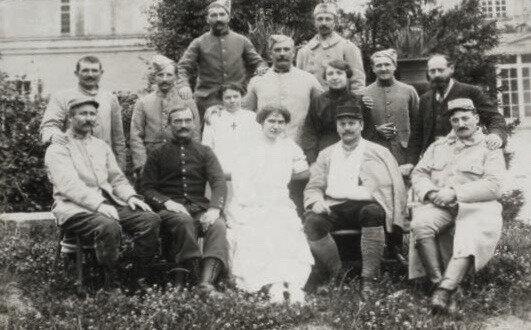 Nancy, hôpital militaire, pendant la guerre