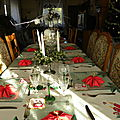 Déco de table noël rouge