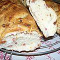 Baguette farcie aux lardons et gruyère