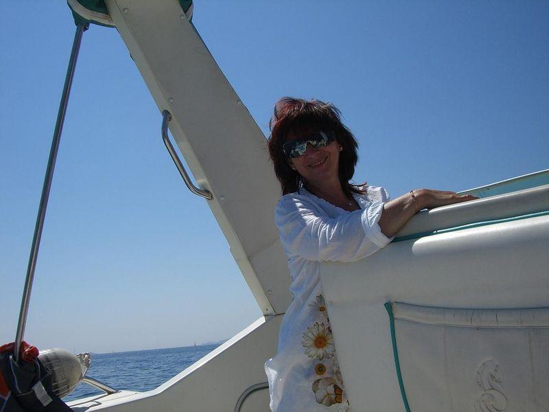 En bateau à Porquerolles