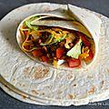 Burritos au poulet et au boeuf