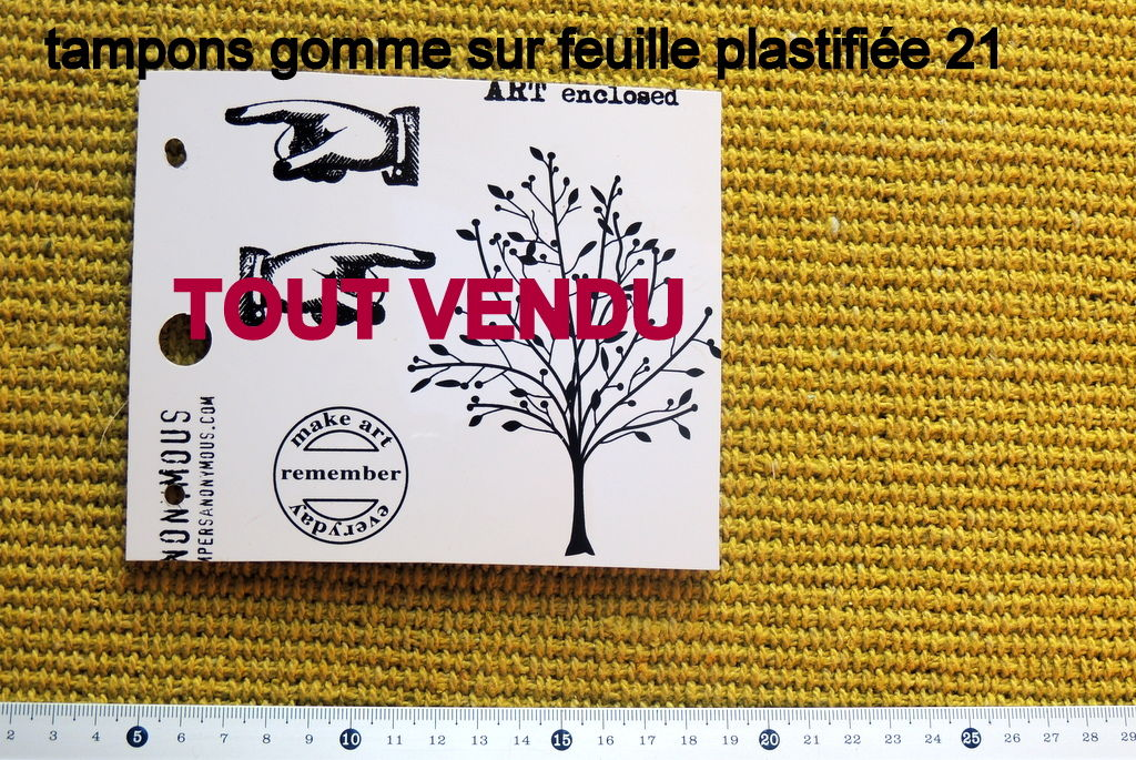 tampons gomme 21