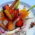 Panna cotta beaufort, déclinaison de carottes