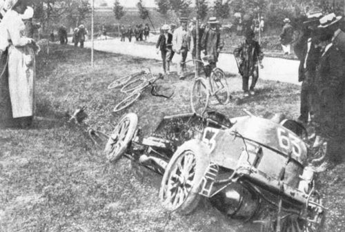 1903 paris-madrid - marcel renault (renault 30hp) crashed fatally at théry 4