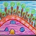 Maïwenn Hundertwasseur et paysage enfant