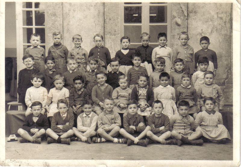 Ecole communale de Sainte-Foy, 1955, classe de Jean Bruzel