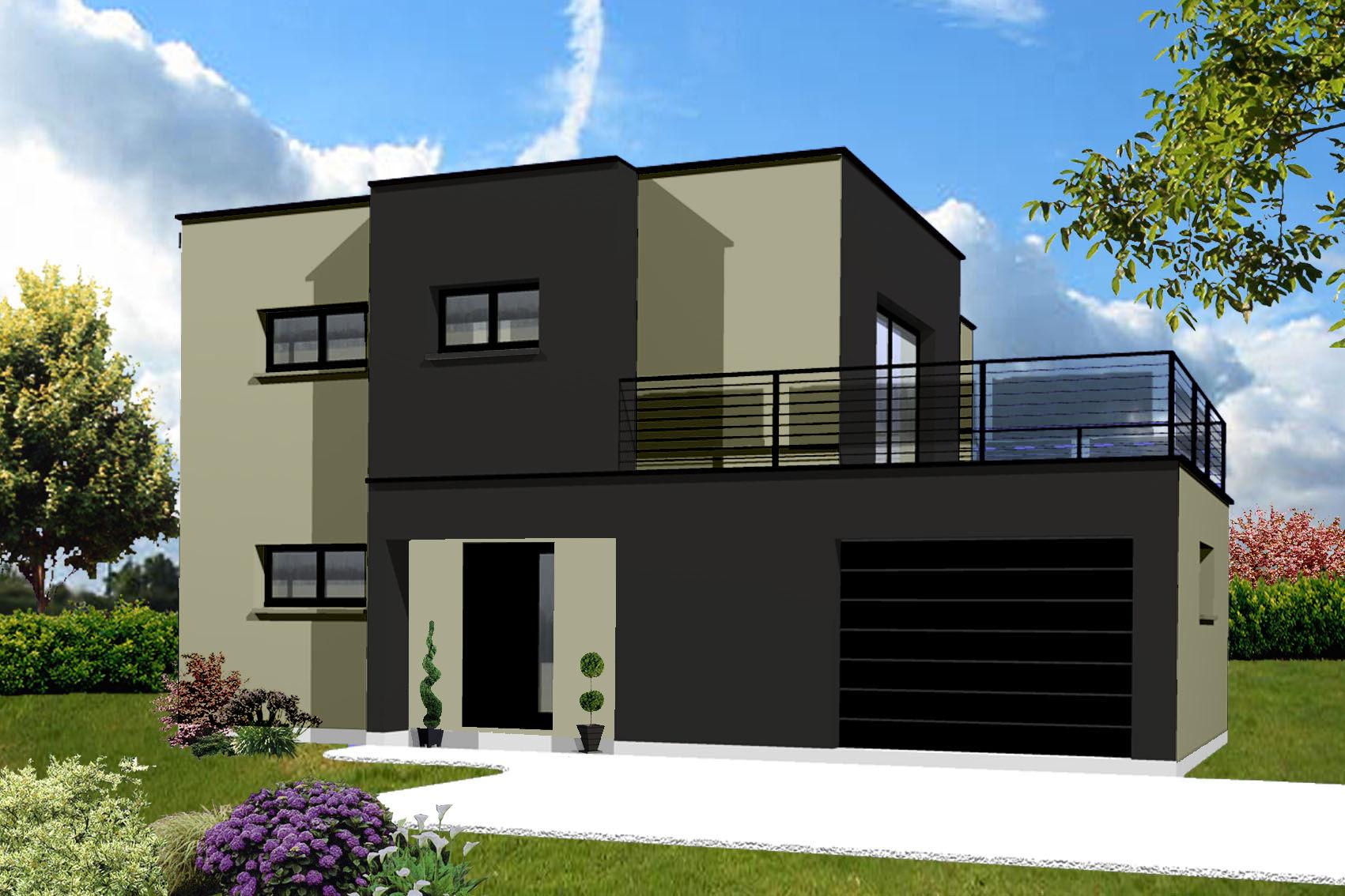 Facade maison cubique ventana blog for Modele couleur facade maison