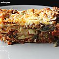 Lasagnes aux aubergines et au boeuf