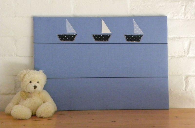 Pêle-mêle bleu - petits bateaux
