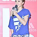 Jolin at adidas tw press conference in taipei