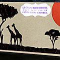 carte porte-billets avec paysage africain