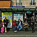 Station de bus Anvers-Sacré Coeur.