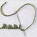 Le point de grébiche ou buttonhole stitch