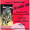 12ème concours international de <b>becerrada</b> à Fontvieille
