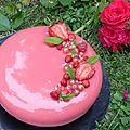 Entremet fraises vanille