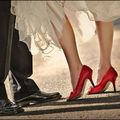 Chaussures colorées : rouge