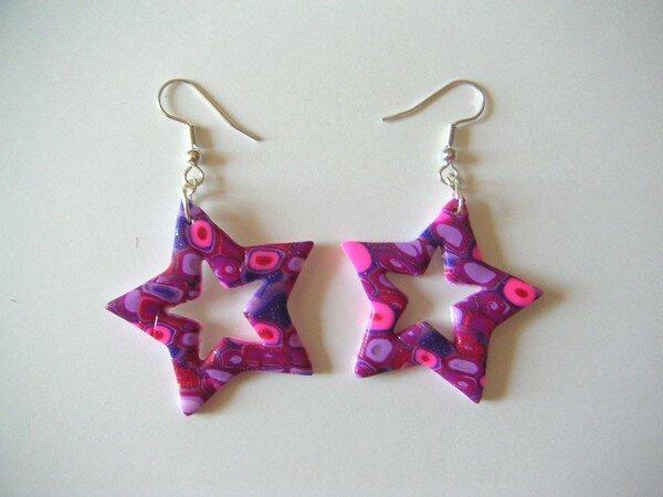 Boucles étoiles creuses Mosaik rose