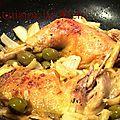 Cuisses de poulet au fenouil & olives