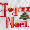 Broderie pour noel