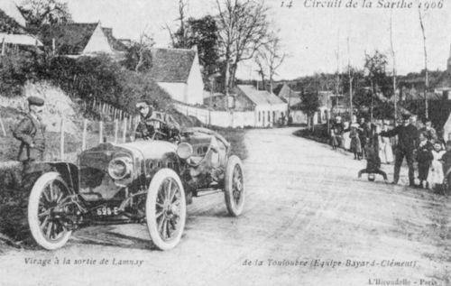1906 gp de l'acf, le mans - 'de la touloubre' (clément-bayard 100hp) dnf 3 laps gearbox
