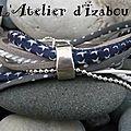 Prototype <b>bracelet</b> <b>multimatières</b> liberty, cuir, cordon, chaîne boule dans l'esprit du <b>bracelet</b> Far west !