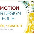 Les promotions d'octobre !!!