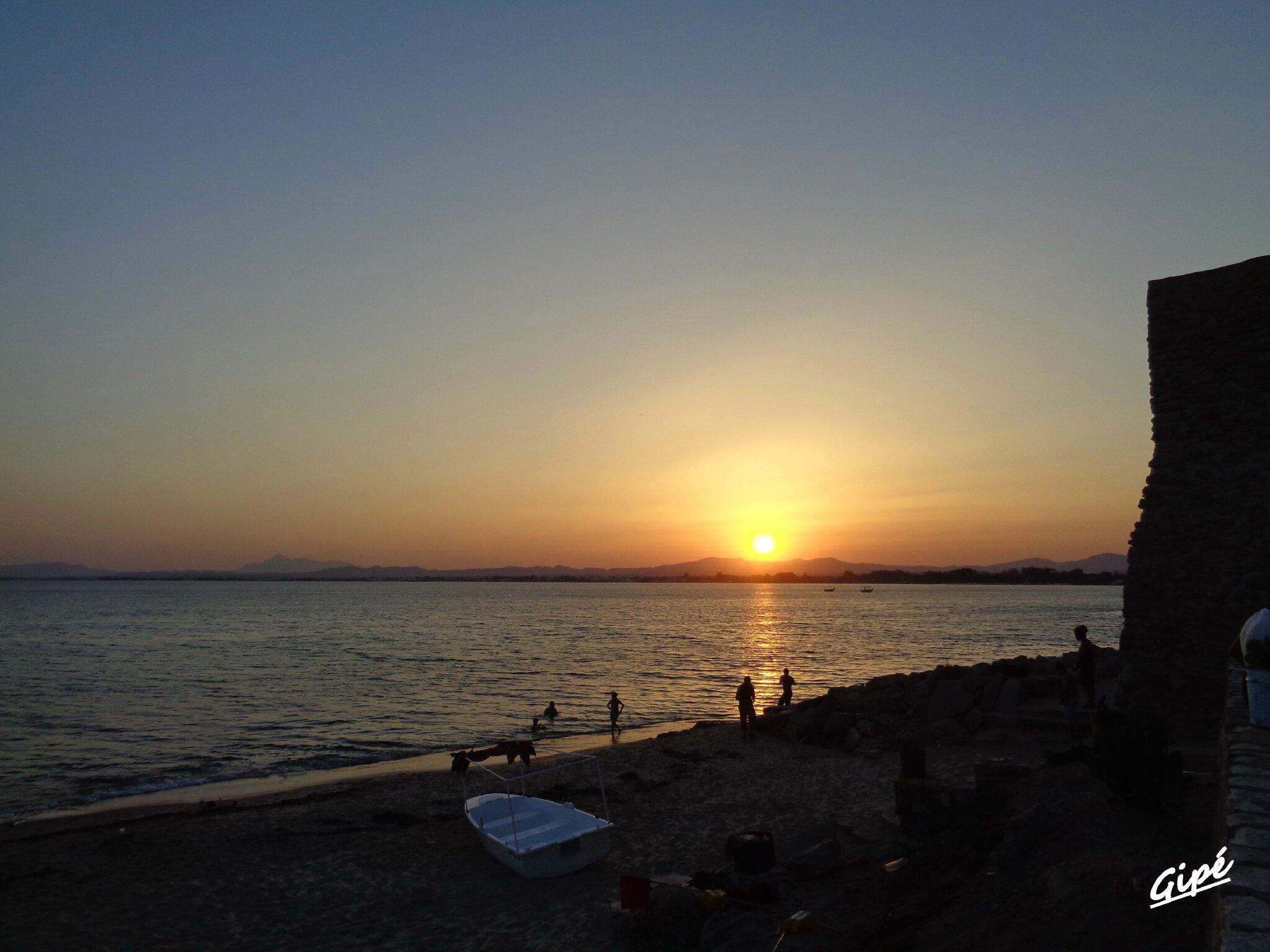 Le coucher de soleil du dimanche 27 juillet 2014