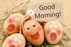 good-morning-card-smile-face-eggs-sleep-sack-background-70865806
