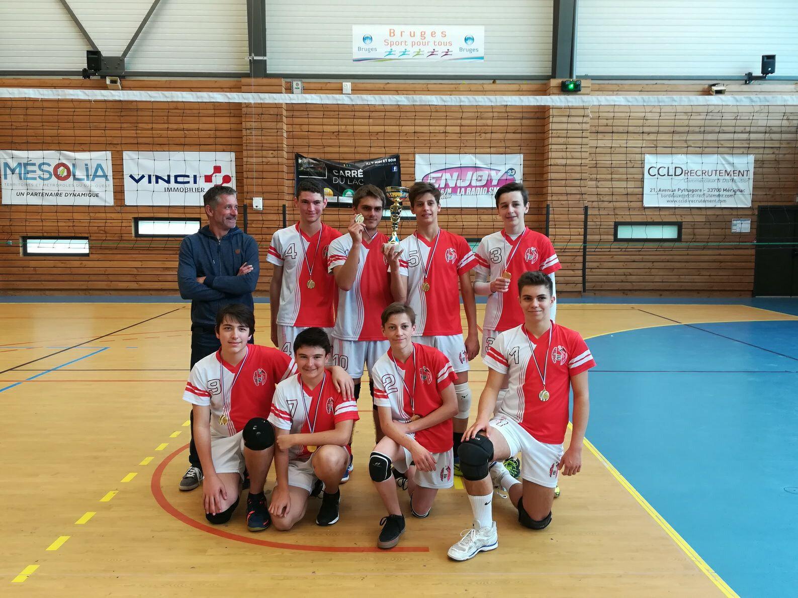 Nos M17G champion de Gironde 2018 et champion régional Zone sud !