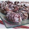 M'chakaks ou biscuits craquelés au chocolat