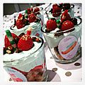 Trifles pistache/framboises
